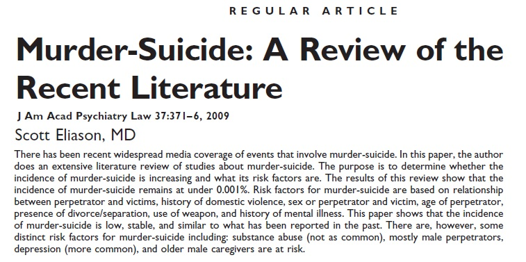murder suicide a review